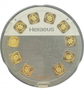 10 x 1 g GoldSeed Gold-Barren von Heraeus