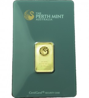 Perth Mint Gold-Barren 10 g CertiCard®