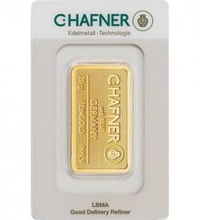 C.Hafner Gold-Barren 20 g Scheckkarte (LBMA-zertifiziert)