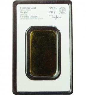 Heraeus Gold-Barren 20 g Scheckkarte LBMA-zertifiziert