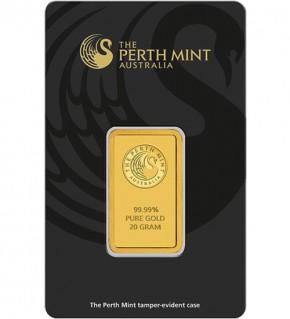 Perth Mint Gold-Barren 20 g Scheckkarte (LBMA-zertifiziert)