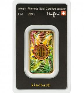 Argor-Heraeus Gold-Barren 1 oz (31,1 g) Kinebar Scheckkarte (LBMA-zertifiziert)