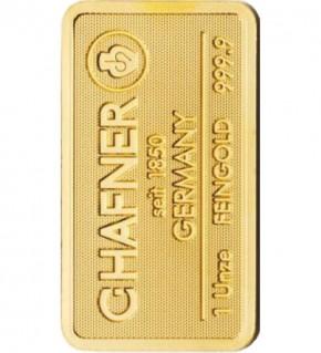 C.Hafner Gold-Barren 1 oz / 31,1g Scheckkarte LBMA-zertifiziert