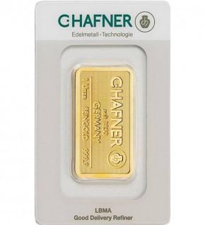 C.Hafner Gold-Barren 1 oz (31,1 g) Scheckkarte (LBMA-zertifiziert)