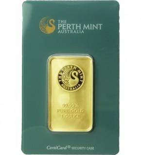 Perth Mint Gold-Barren 1 oz (31,1 g) Scheckkarte (LBMA-zertifiziert)
