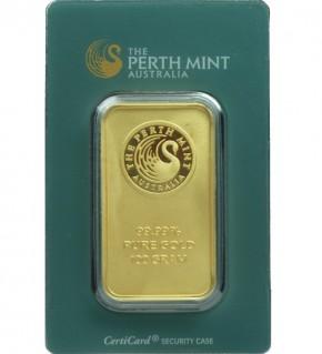 Perth Mint Gold-Barren 100 g Scheckkarte (LBMA-zertifiziert)