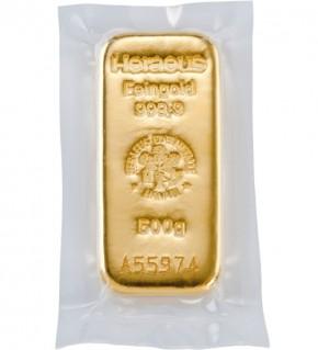 Heraeus Gold-Gussbarren 500 g