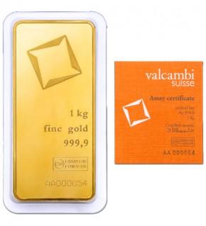 Valcambi Gold-Barren 1000 g LBMA zertifiziert