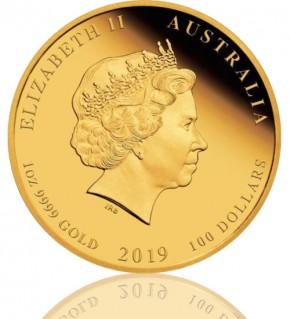 Lunar Serie II 1 oz 2019 Schwein Gold