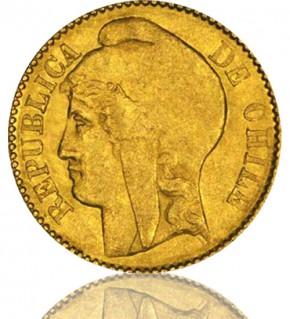 Chile 5 Pesos 1895-1900
