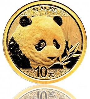 China Gold Panda 1 g 2018