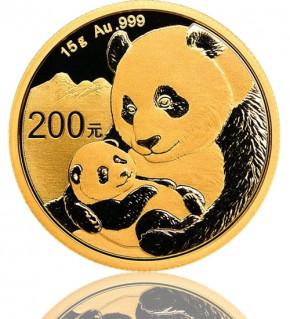 China Gold Panda 15 g 2019