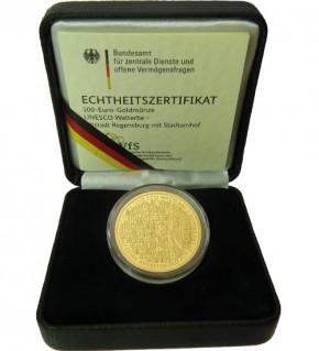 Goldeuro 1/2 oz 2017 F - Luthergedenkstätten Eisleben und Wittenberg