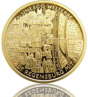Goldeuro 1/2 oz 2016 F - Regensburg mit Stadtamhof