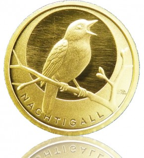 Heimische Vögel Goldeuro 1/8 oz 2016 G - Nachtigall