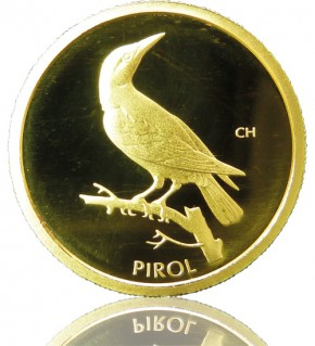 Heimische Vögel Goldeuro 1/8 oz 2017 F - Pirol