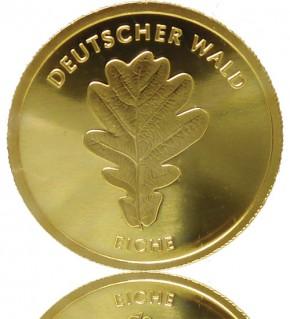 Deutscher Wald Goldeuro 1/8 oz 2010 A - Eiche