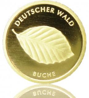 Deutscher Wald Goldeuro 1/8 oz 2011 A - Buche