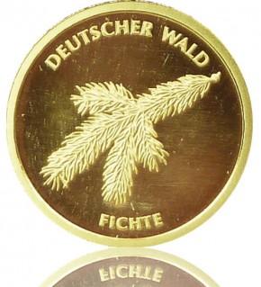 Deutscher Wald Goldeuro 1/8 oz 2012 A - Fichte