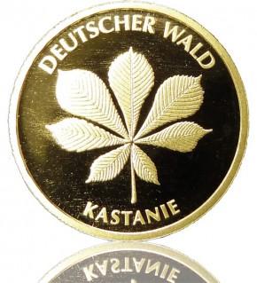 Deutscher Wald Goldeuro 1/8 oz 2014 D - Kastanie