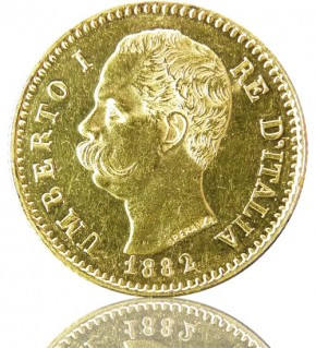 Umberto I. Italien 20 Lire