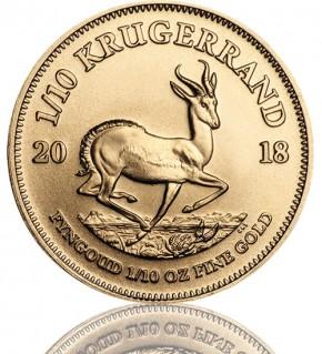 Krügerrand 1/10 oz Gold 2018
