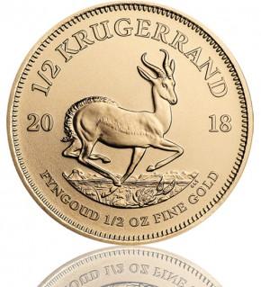 Krügerrand 1/2 oz Gold 2018