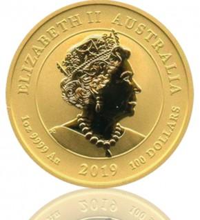 Mondlandung 50 Jahre, Australien Gold 1 oz 2019 Perth Mint