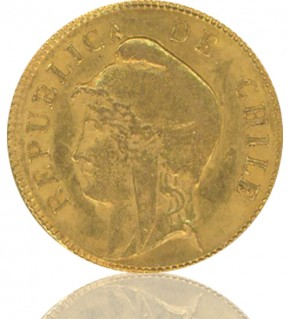Chile 10 Pesos 1895 - 1901