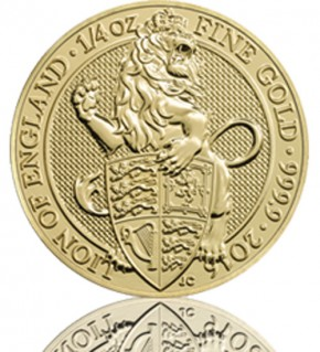 The Queen's Beast - Lion of England 1/4 oz 2016