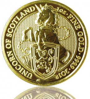 The Queen's Beast - Unicorn of Scotland 1 oz 2018