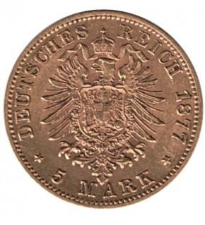 5 Mark Goldmünze Deutsches Kaiserreich, diverse Jahrgänge