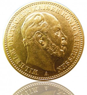 20 Mark Preussen Wilhelm I. 1887 A, Jäger 246, NDW 7333