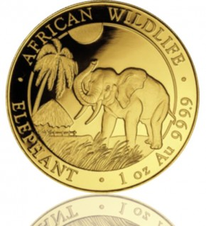 1 oz Somalia Gold Elefant 2018