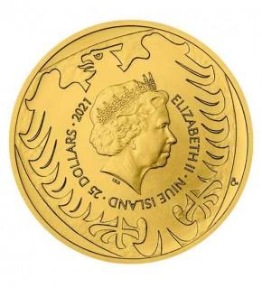 Gold Tschechischer Löwe - 1/2 oz - 2021 - Czech Lion