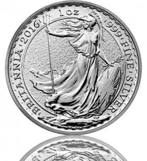 Britannia 1 oz Silbermünze 2016