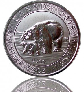 Kanada Polarbär - Canadian Polar Bear - 1,5 oz 2015