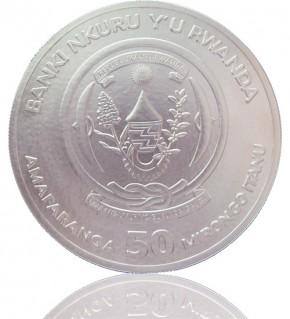 1 oz Ruanda Lunar Serie Silber 2020 Ratte