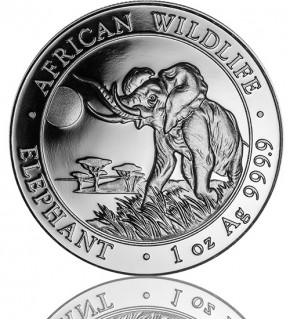 1 oz Somalia Elefant 2016 African Wildlife