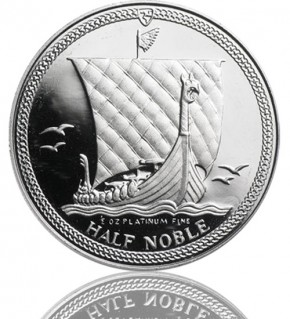 Isle Of Man - Noble 1/2 oz div. Jg.