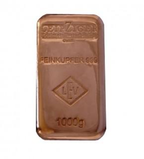 1000 g Kupferbarren