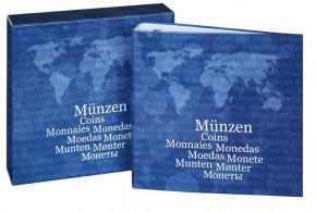 Karat-Münzenalbum EURO BASIC leer mit Kassette