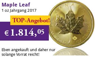 Maple Leaf Goldmünze 1 oz 2016
