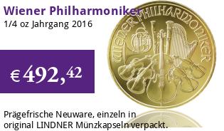 Wiener Philharmoniker 1/4 oz 2016