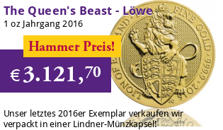 The Queen's Beast - Der Englische Löwe 1 oz 2016