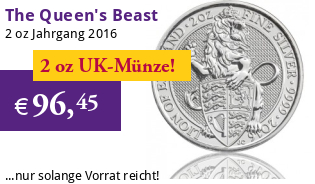 The Queen's Beast - Der Englische Löwe 2 oz 2016