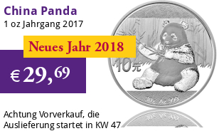 China Silberpanda 30 g 2017