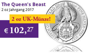 The Queen's Beast - Greif von England 2 oz 2017