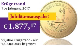 Krügerrand 1 oz 2017 - Jubiläumsausgabe