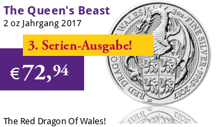 The Queen's Beast - Roter Drache von Wales 2 oz 2017